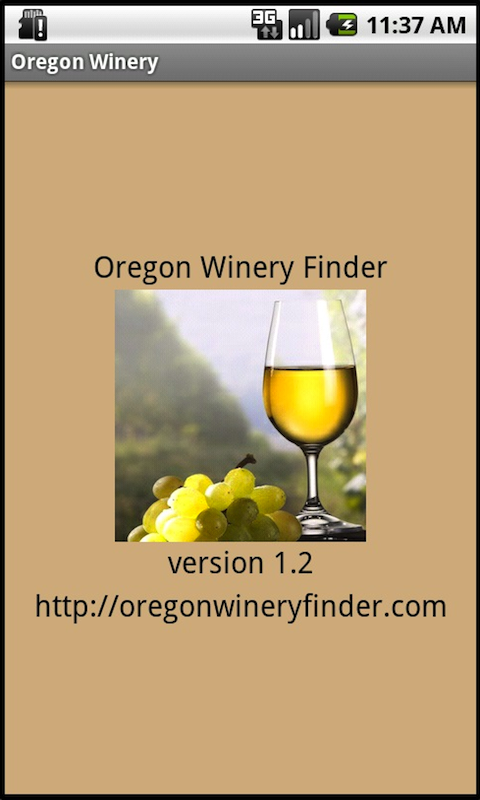 Oregon Winery Finder- screenshot
