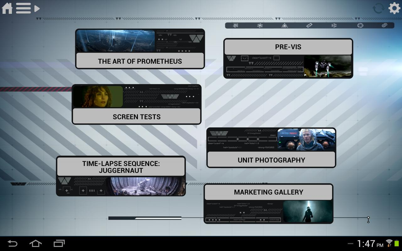 Prometheus Weyland Corp App - screenshot