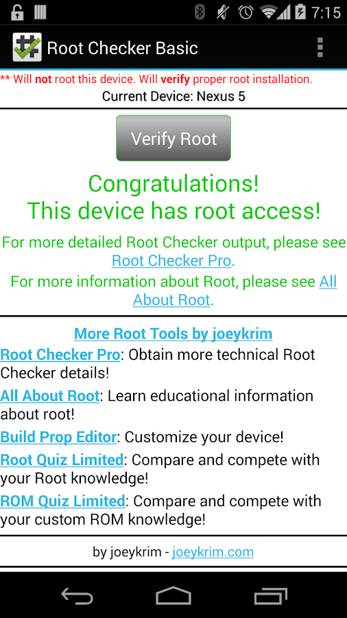 Root Checker - screenshot