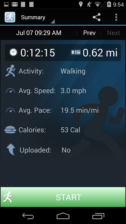 JogTracker- screenshot
