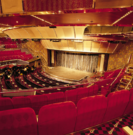 Costa-Atlantica-Caruso-Theater - The 3-level Caruso Theater, Costa Atlantica's main show venue.