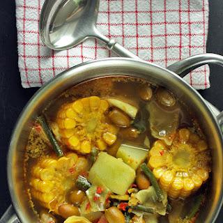 Sayur Asem - Vegetables in Tamarind Soup.