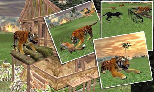 ワイルドジャングルタイガー攻撃シム