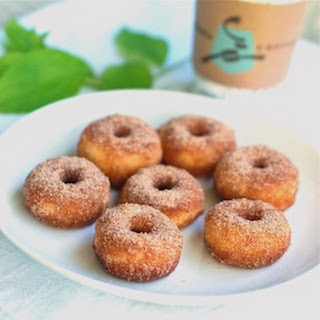 Cinnamon Sugar Mini Donuts.