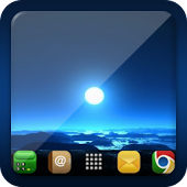 Blue Moon Go Launcher Ex Theme
