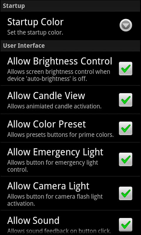 Droid Light- screenshot