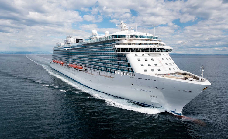 Regal Princess during sea trials.