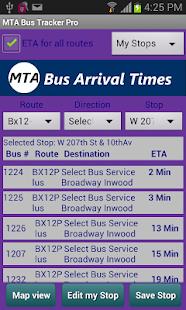 MTA Bus Tracker Pro