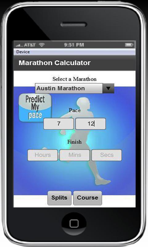 Marathon Calculator - screenshot