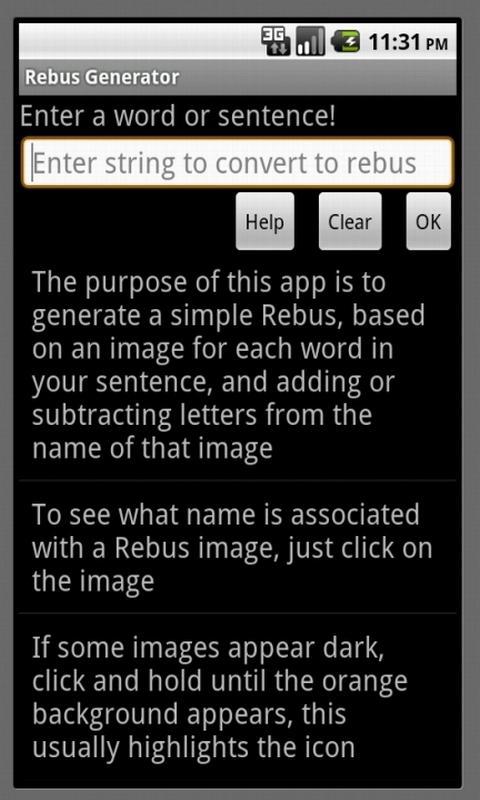 Rebus Generator- screenshot