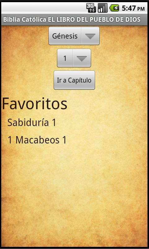Biblia Católica - screenshot