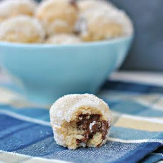 Nutella Stuffed Donut Holes.