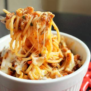 Spaghetti Casserole with Andouille Sausage