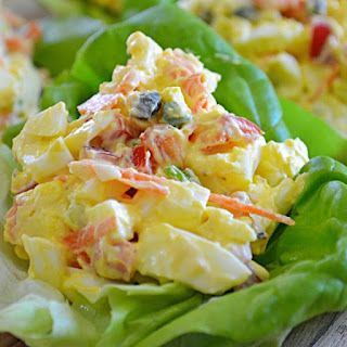 Light Egg Salad Wraps Recipe by Lady Behind the Curtain