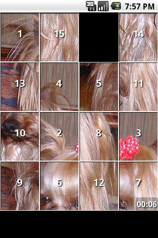 Yorkie Slide Puzzle iSlider- screenshot