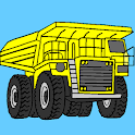 Vehicles Coloring Book Free icon