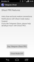Screenshot of Telegram Ghost