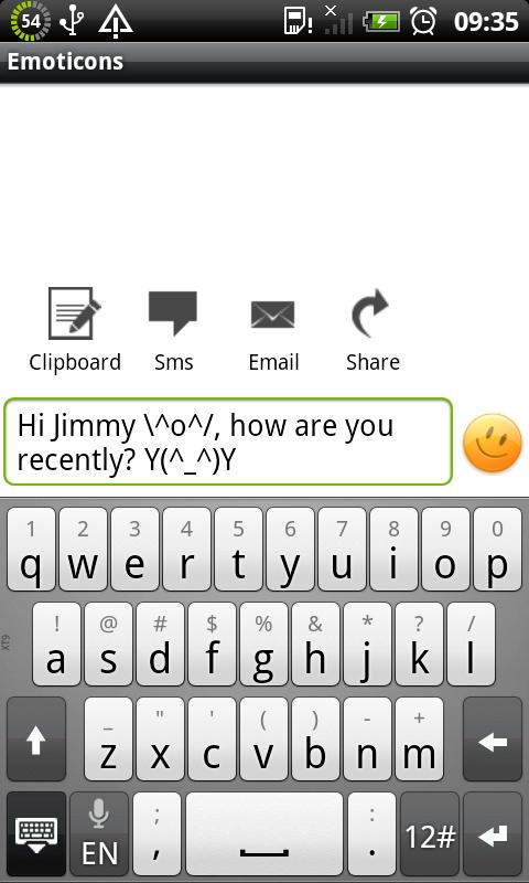 Text Emoticons - screenshot