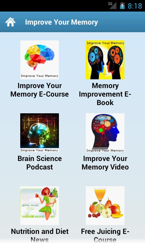 Improve Your Memory - screenshot
