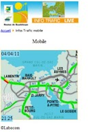 Screenshot of Trafic routier Guadeloupe
