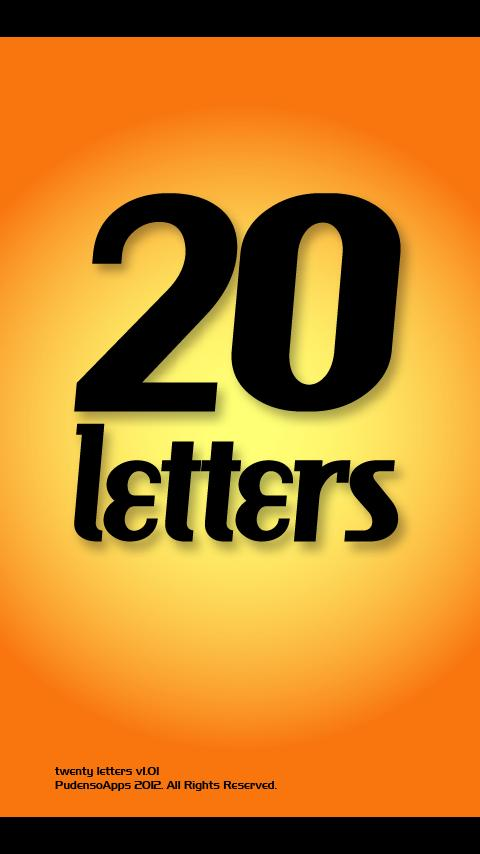 Twenty Letters - Word Game- screenshot