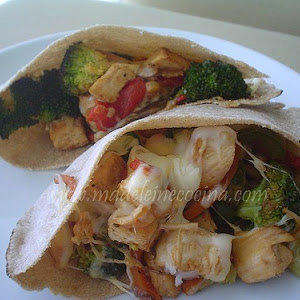 Vegetable and Chicken Pita