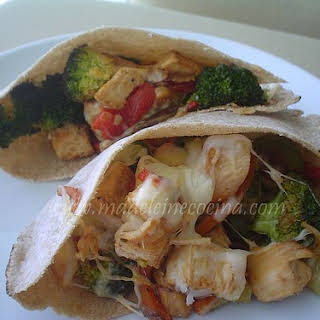 Vegetable and Chicken Pita.