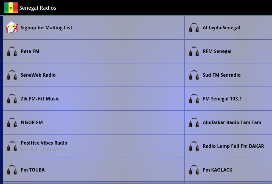 Senegal Radios- screenshot