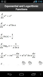 Calculus Formulas- screenshot thumbnail