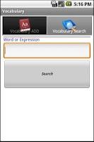Screenshot of Vocabulary