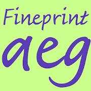 Fineprint FlipFont 1.0 Icon