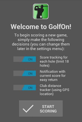 GolfOn Golf Scorer Distance