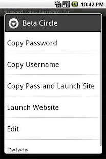 Password Tote- screenshot thumbnail