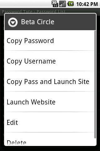 Password Tote- screenshot