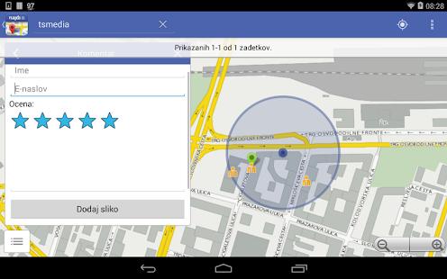 Najdi.si Zemljevid - screenshot thumbnail