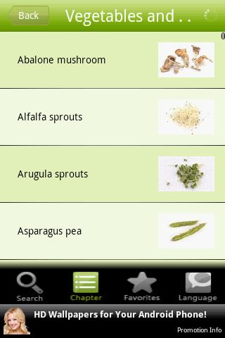 Vegetables and Legumes - screenshot