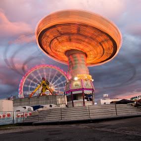 whirligig at Volksfest Nuremberg by Alexander Kulla - City,  Street & Park  Amusement Parks ( franken, kettenkarussell, whirligig, volksfest, mittelfranken, nürnberg, metropolregion nürnberg,  )