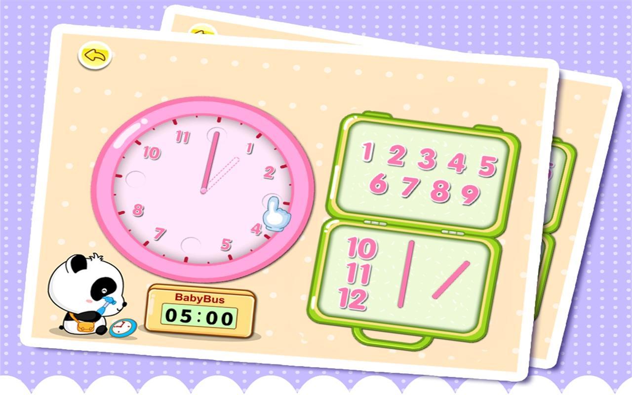 Babys Learning Clock - BabyBus - screenshot