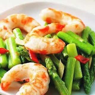 Asparagus Shrimp Fried vegetarian