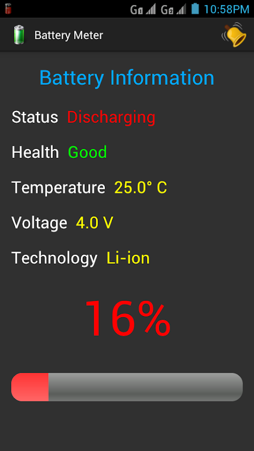 Battery Meter - screenshot
