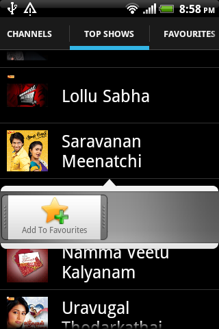 Tamil TV Serials and Shows - screenshot