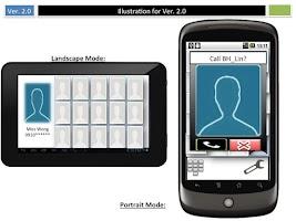Screenshot of Photo phone dialer