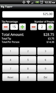 Big Tipper Tip Calculator