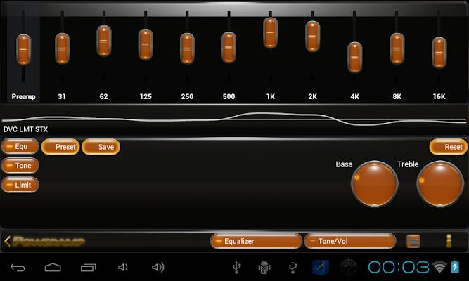Poweramp skin orange droid v2.03