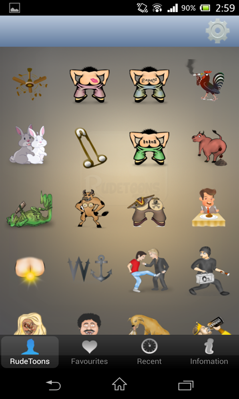 RUDETOONS ADULT EMOTICONS- screenshot