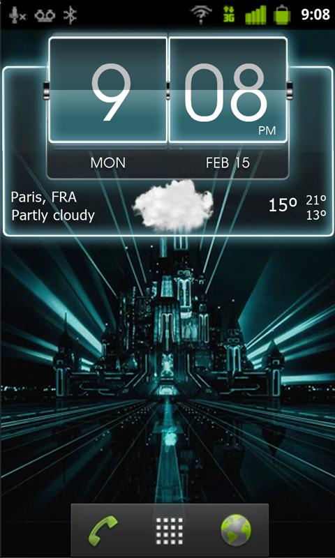 3D Flip Clock Theme Pack 04 - screenshot