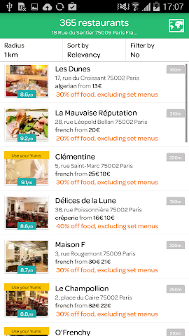 android LaFourchette - Restaurants Screenshot 12