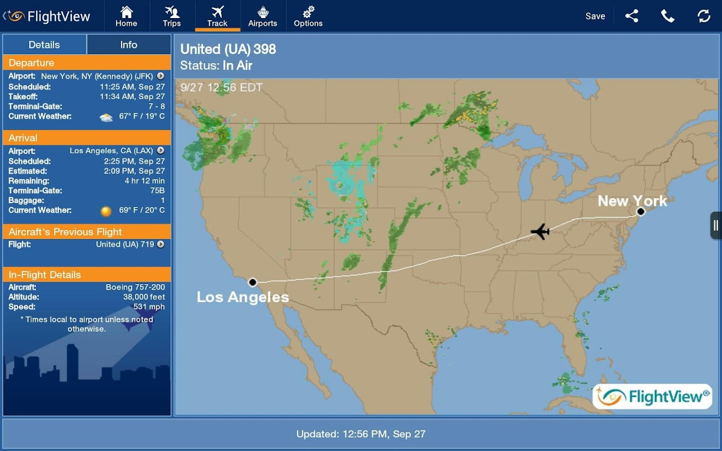 FlightView Elite FlightTracker- screenshot