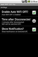 Screenshot of Auto WiFi OFF Pro
