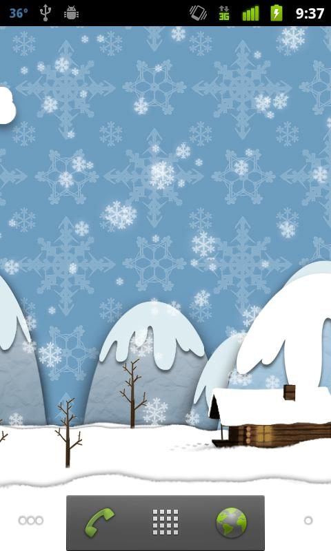 Samsung Parallax Winter LWP - screenshot